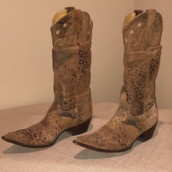outlet cheap cheap sale fashionable Old Gringo Suede Printed Boots clearance cheap cheap sale order d6oRa0p